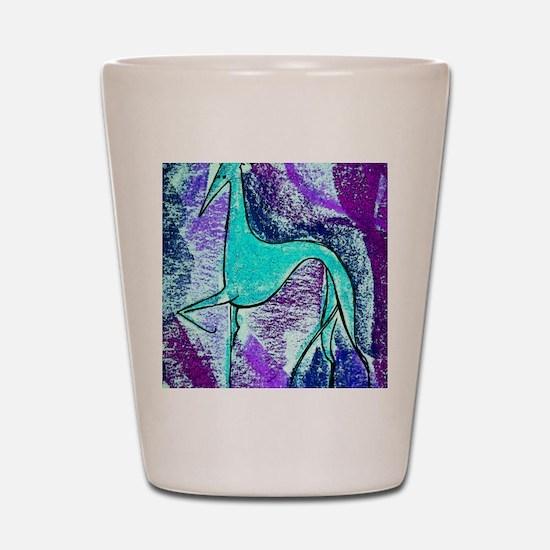 Aqua Grey Shot Glass