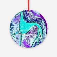 Aqua Grey Round Ornament