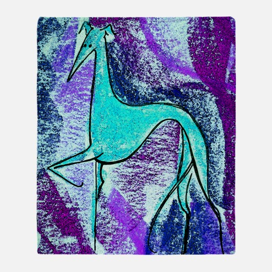 Aqua Grey Throw Blanket