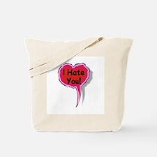 I Hate You Heart Speak Balloon Tote Bag
