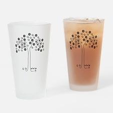 tree-blk Drinking Glass