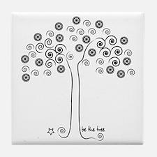 tree-blk Tile Coaster