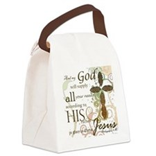 2-Picture Frame Canvas Lunch Bag