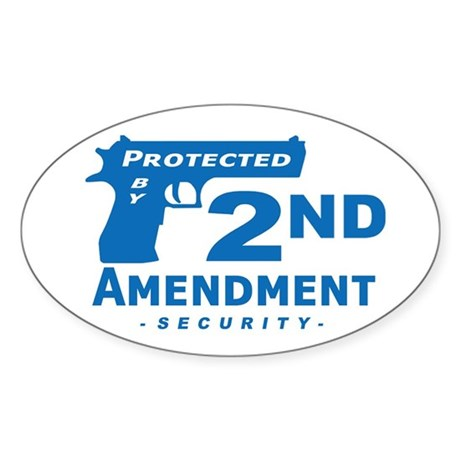 2nd Second Amendment Security Oval Sticker