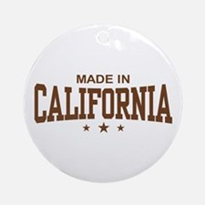 Made in California Ornament (Round)