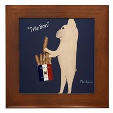 French Bull Dog Framed Tile