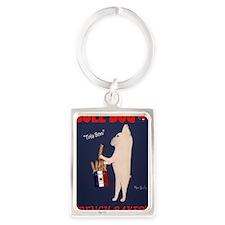 French Bull Dog Portrait Keychain