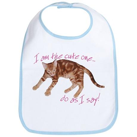 Cat as Cute One Bib