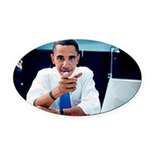 ART This Obama 1 Oval Car Magnet