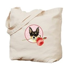 Toy Fox Terrier Rose Tote Bag