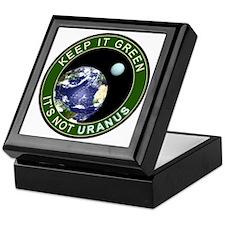 Earth - It is not URANUS Keepsake Box