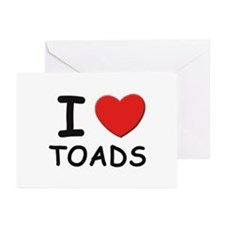 I love toads Greeting Cards (Pk of 10)
