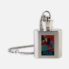 Ride 2.gif Flask Necklace