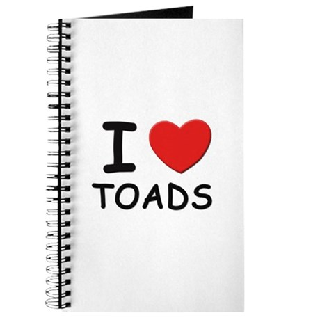 I love toads Journal