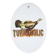 Turkaholic Oval Ornament