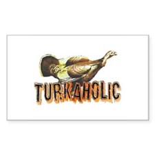 Turkaholic Rectangle Decal