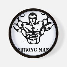 strongman_black_phrase Wall Clock
