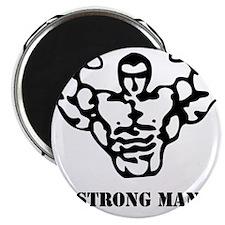 strongman_black_phrase Magnet