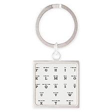 3-Morse-Code Square Keychain