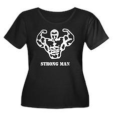 strongma Women's Plus Size Dark Scoop Neck T-Shirt