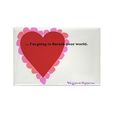 ART Barack your world Rectangle Magnet