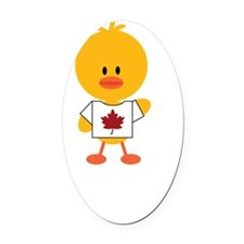 CanadianChickDkT Oval Car Magnet