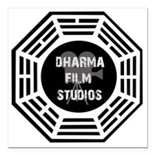 "Dharma Films Studios Square Car Magnet 3"" x 3"""
