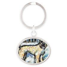 paintingmac Oval Keychain