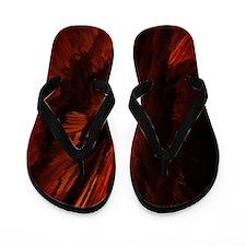 flame art red Flip Flops