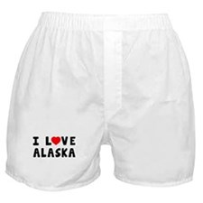 I Love Alaska Boxer Shorts