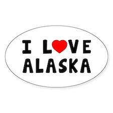 I Love Alaska Decal