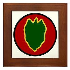 24th Infantry Division Framed Tile