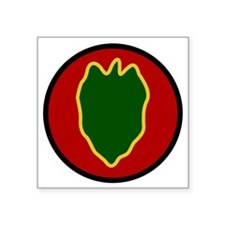 "24th Infantry Division Square Sticker 3"" x 3"""