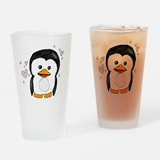 sparkle penguin Drinking Glass
