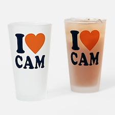Love C White Drinking Glass