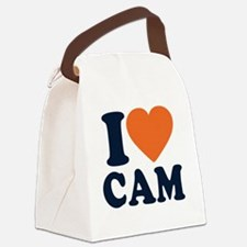 Love C White Canvas Lunch Bag