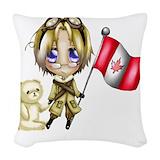 Hetalia canada Woven Pillows