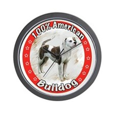 american bulldog copyred Wall Clock