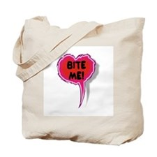 Cupid is Stupid Heart Speak Balloon Design Tote Ba