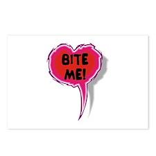 Cupid is Stupid Heart Speak Balloon Design Postcar