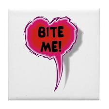 Cupid is Stupid Heart Speak Balloon Design Tile Co