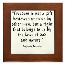 b_f_freedom_gift Framed Tile