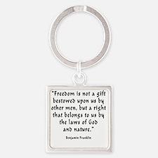 b_f_freedom_gift Square Keychain