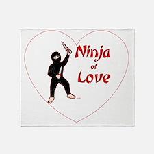 Ninja-of-love-in-a-heart-02-TR Throw Blanket
