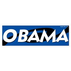 Obama Swirled Bumper Bumper Sticker