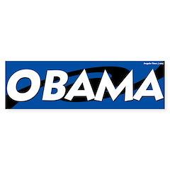 Obama Swirled Bumper Bumper Sticker