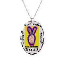 year of the rabbit Necklace Oval Charm