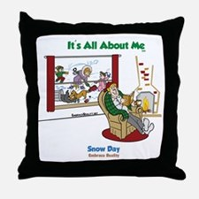 snowday-color3-Final-Crop Throw Pillow