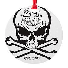24 Chains Skull Ornament