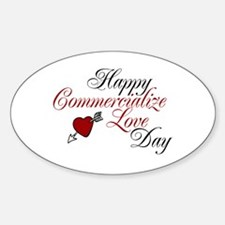 Commercialize Love Day Oval Decal